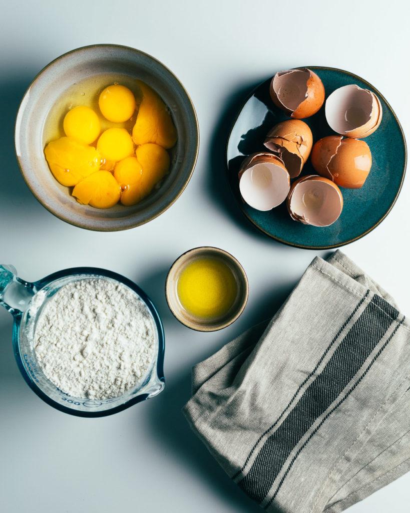Fresh Pasta Dough Ingredients