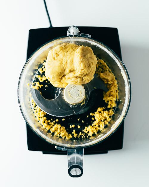 Fresh Pasta Dough in Cuisinart food processor